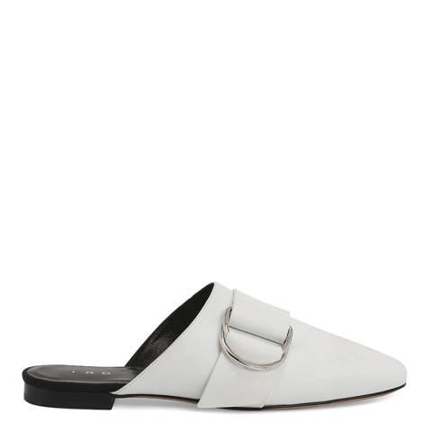 IRO White Leather Met Mules