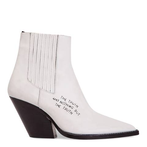 IRO White Leather The Truth Ankle Boot