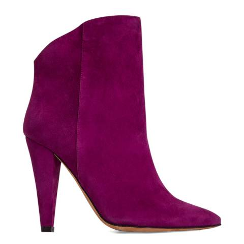 IRO Purple Suede Amy Ankle Boot