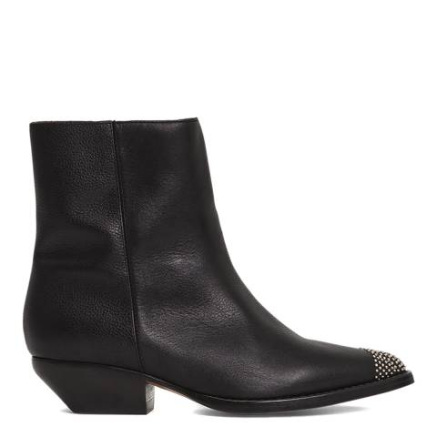 IRO Black Leather Santiago Ankle Boot