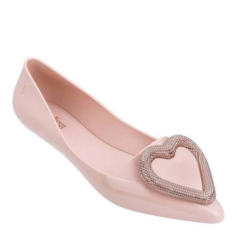Melissa Blush Pink Pointy Heart Ballet Pump