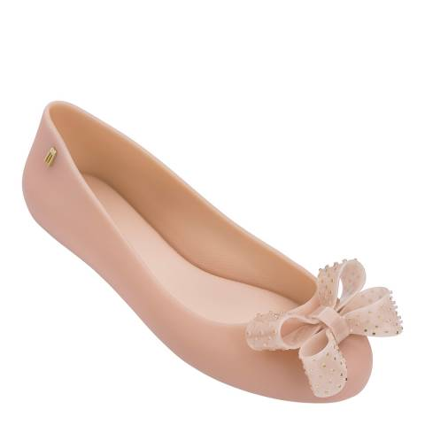 Melissa Nude Pink Space Love Leisure Bow Ballet Pump