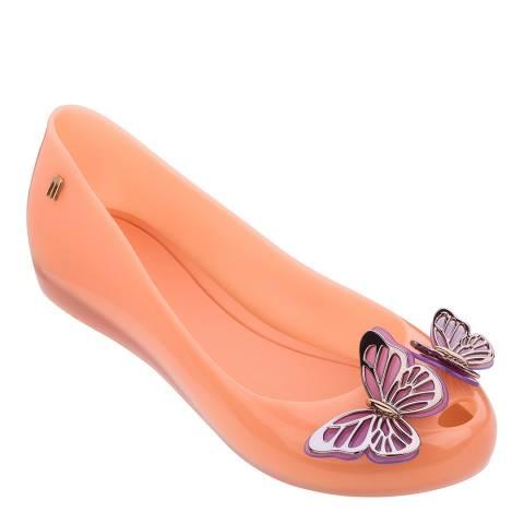 Melissa Soft Coral Ultragirl Butterfly Ballet Pump