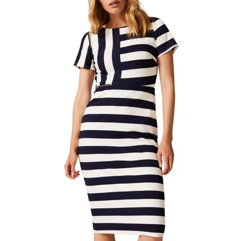 Phase Eight Navy Maryanne Ponte Dress
