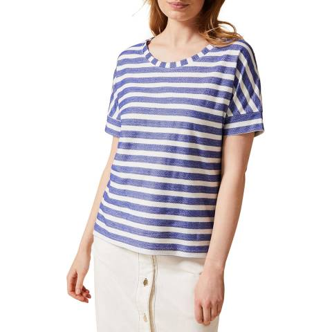Phase Eight Blue Stripe Kitty T-Shirt