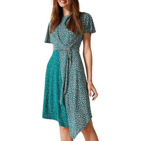 Phase Eight Green Finella Ditsy Dress