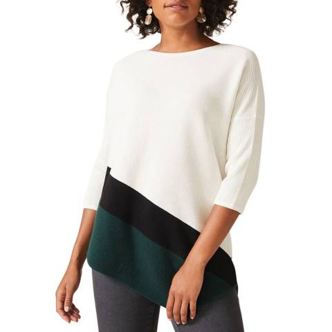 Phase Eight Ivory Ripple Cailey Jumper