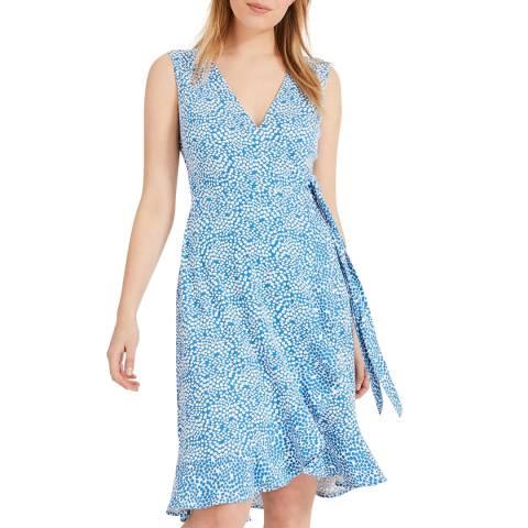 Phase Eight Blue Print Ebony Dress