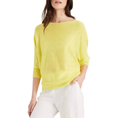 Phase Eight Yellow Fluro Becca Knit Top