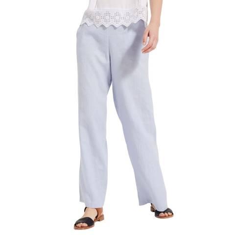 Phase Eight Pale Blue Lex Linen Trousers