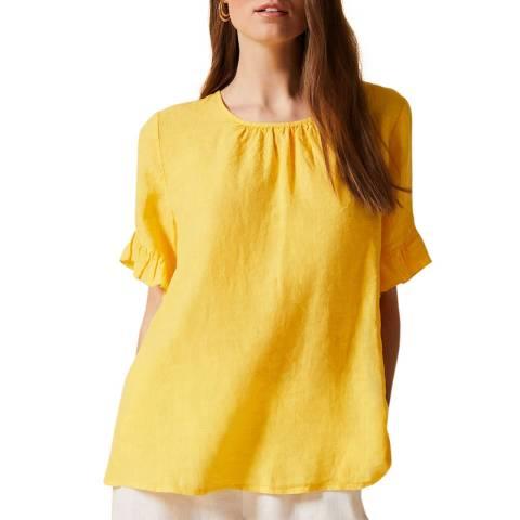Phase Eight Yellow Celeyst Linen Blouse