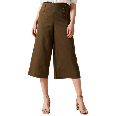 Phase Eight Khaki Eyelet Culottes