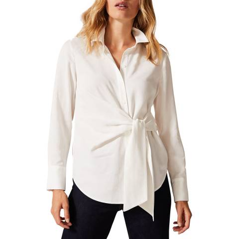 Phase Eight Ivory Ash Tie Shirt