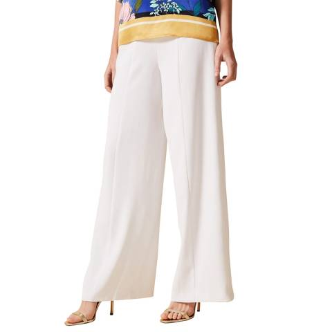 Phase Eight White Santita Wide Trousers
