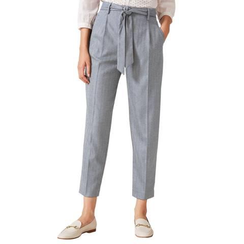 Phase Eight Grey Herringbone Trousers