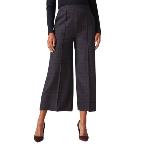 Phase Eight Navy Check Jazlyn Culottes
