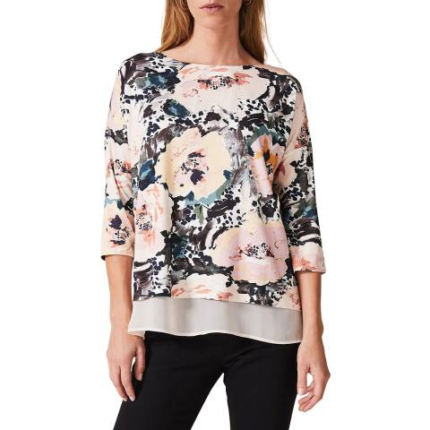 Phase Eight Multi Rose Olena Top