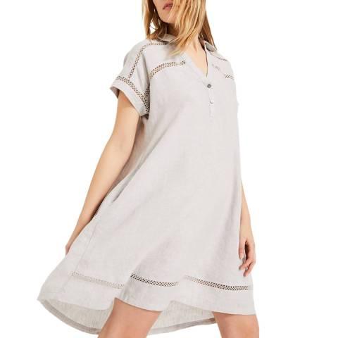 Phase Eight Grey Arla Linen Dress