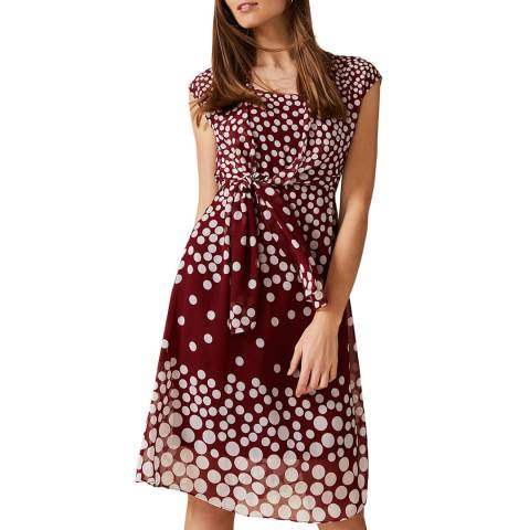 Phase Eight Red Spot Candice Dress