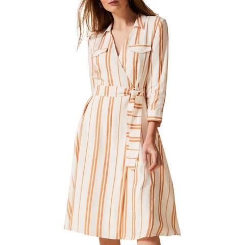 Phase Eight Orange Stripe Zabel Dress