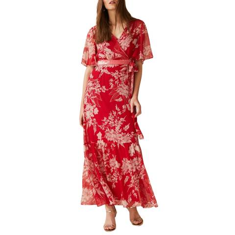 Phase Eight Red Printed Amy Dress