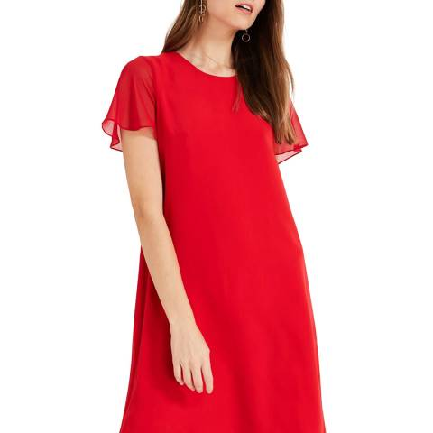 Phase Eight Red Madelyn Swing Dress