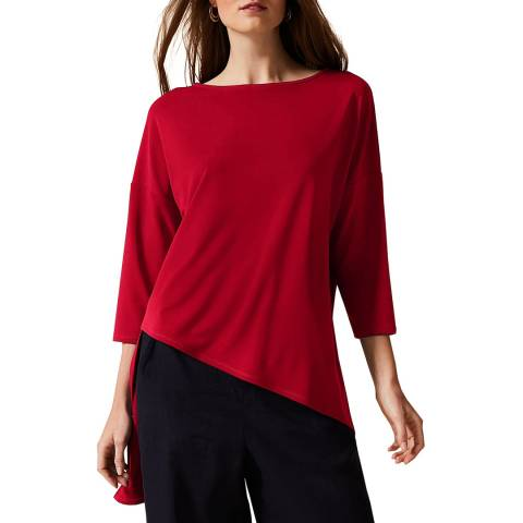 Phase Eight Red Lucetta Longline Top