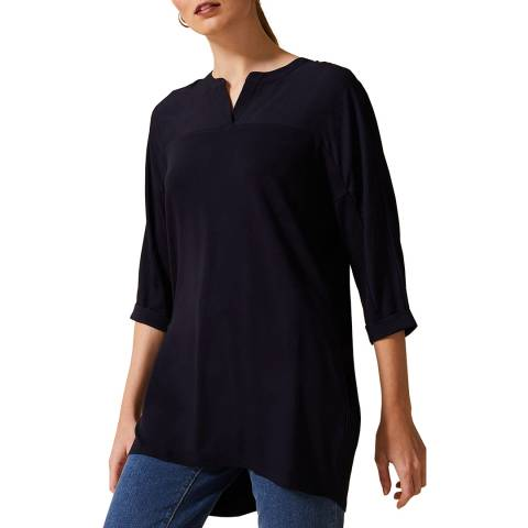 Phase Eight Navy Dominique Longline Top