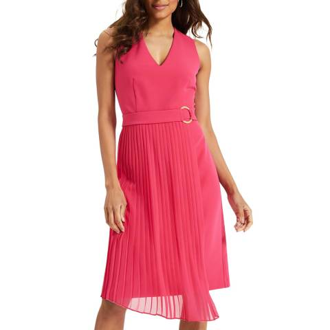 Phase Eight Pink Maddie Pleated Dress