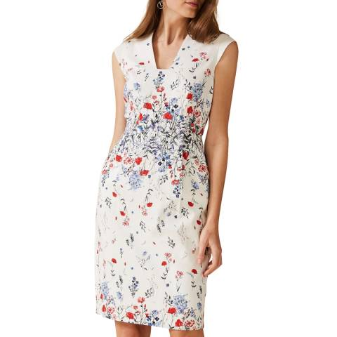 Phase Eight Ivory Floral Anne Dress