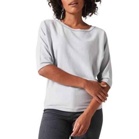 Phase Eight Grey Chain Cali Knit Top