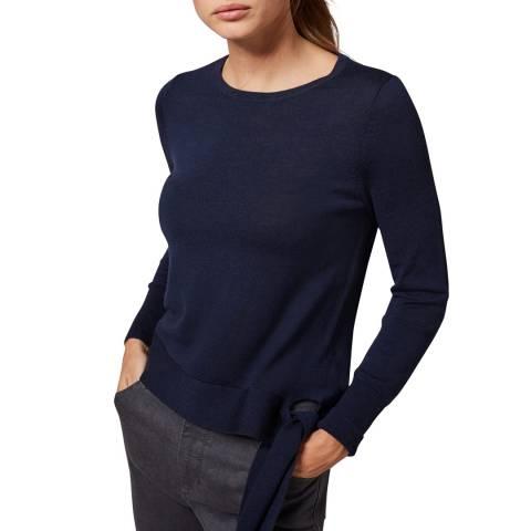 Phase Eight Navy Tessa Wool Knit Top