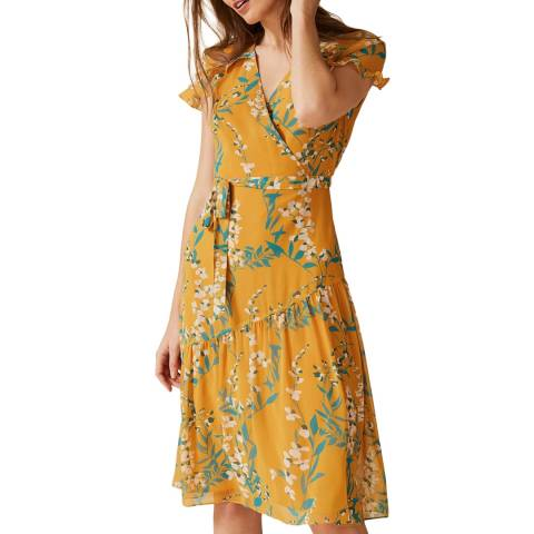 Phase Eight Orange Floral Eloisa Dress