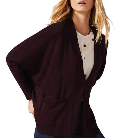 Phase Eight Burgundy Sania Short Cardigan