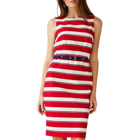 Phase Eight Red Stripe Briony Dress