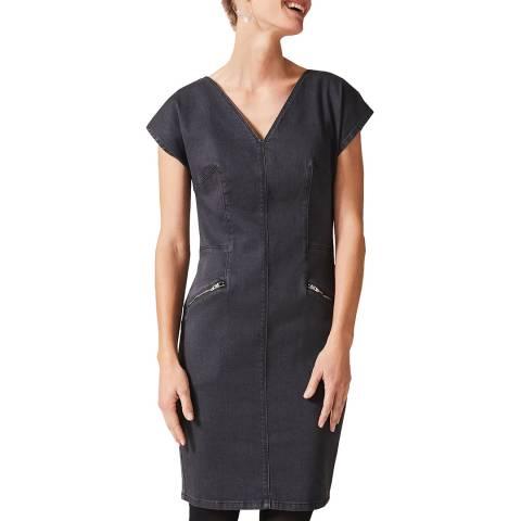 Phase Eight Grey Denim Delmar Dress
