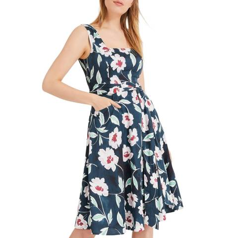 Phase Eight Navy Print Elita Dress