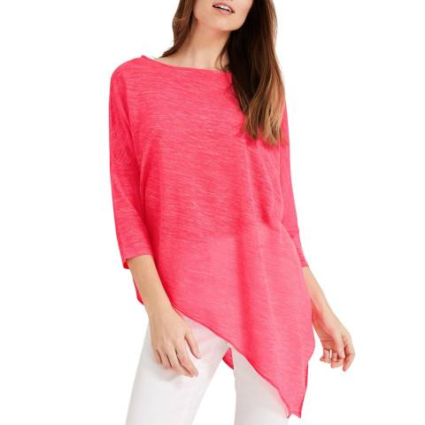 Phase Eight Pink Pearla Fluro Linen Knit Top