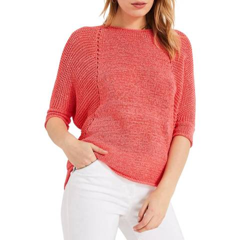 Phase Eight Pink Aideen Tape Knit Top