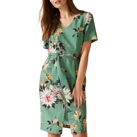 Phase Eight Green Floral Deborah Dress
