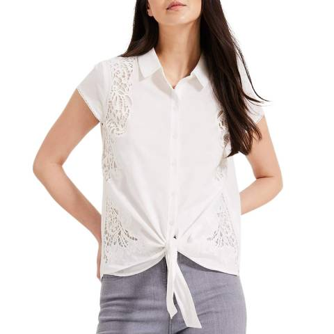 Phase Eight White Cutwork Cordie Blouse