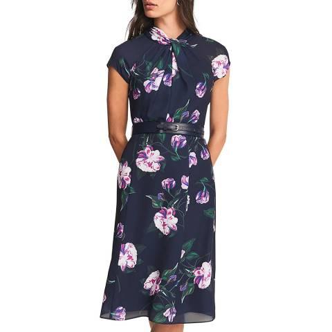 Phase Eight Navy Rose Helena Dress