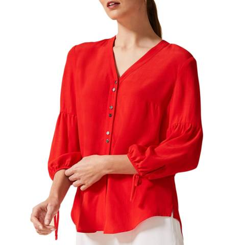 Phase Eight Red Aspen Blouse