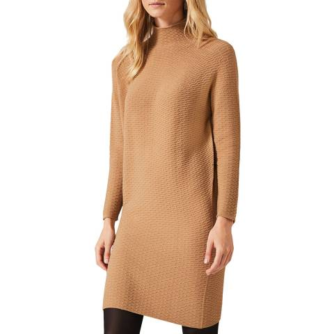 Phase Eight Camel Madie Waffle Dress