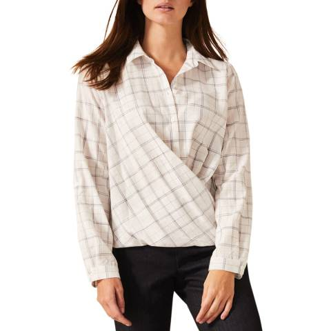 Phase Eight Grey Check Dorata Shirt
