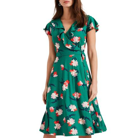 Phase Eight Green Print Irene Wrap Dress