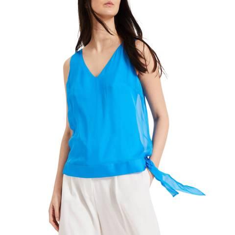 Phase Eight Blue Silk Eilian Blouse