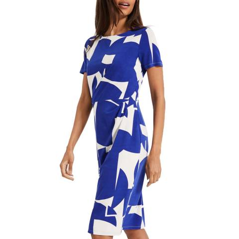 Phase Eight Blue Print Gretchen Dress