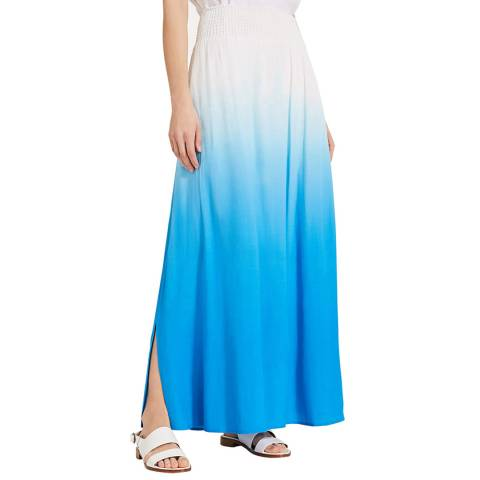 Phase Eight Blue Dip Dye Sam Skirt