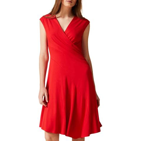 Phase Eight Red Maura Wrap Dress